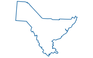Illustration de la forme du Centre-du-Québec