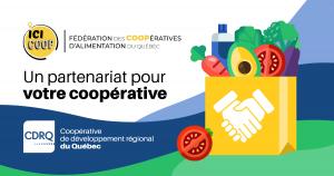 Visuel du partenariat entre la CDRQ et FCAQ